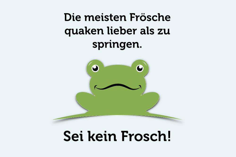 Viele Menschen verhalten sich wie der Frosch beim Boiling Frog ...