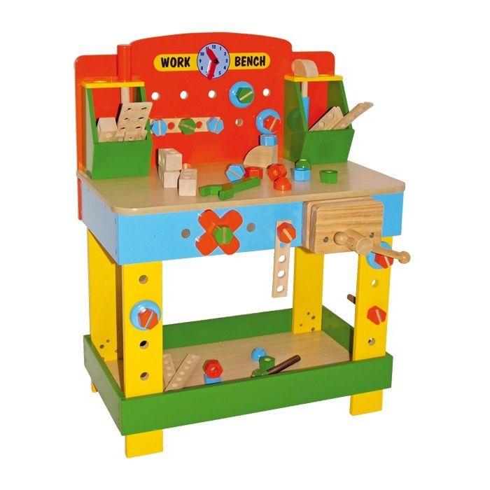 banco de trabajo de madera de juguete para nios este tipo
