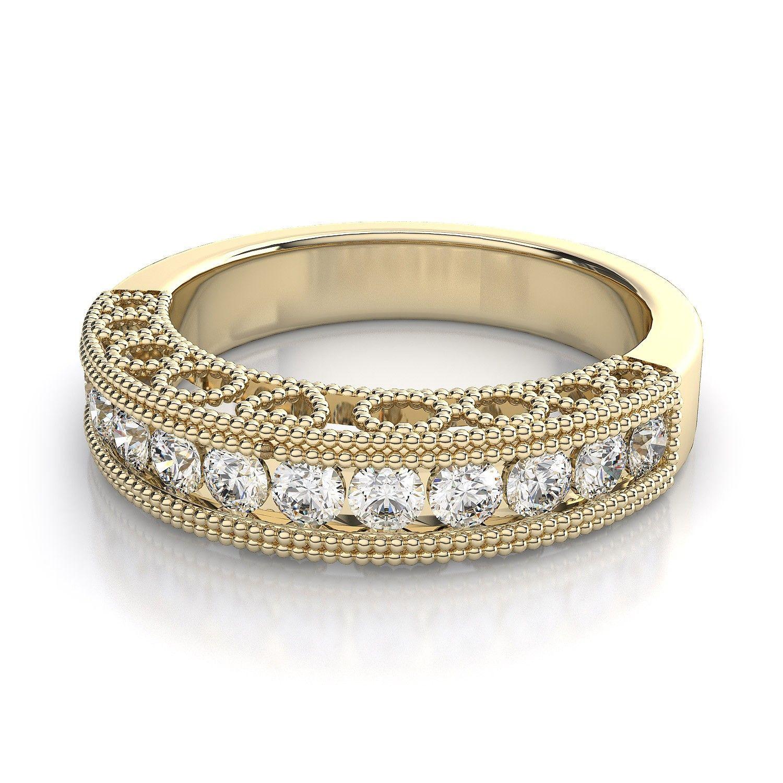 Vintage wedding rings vintage round cut diamond wedding ring in