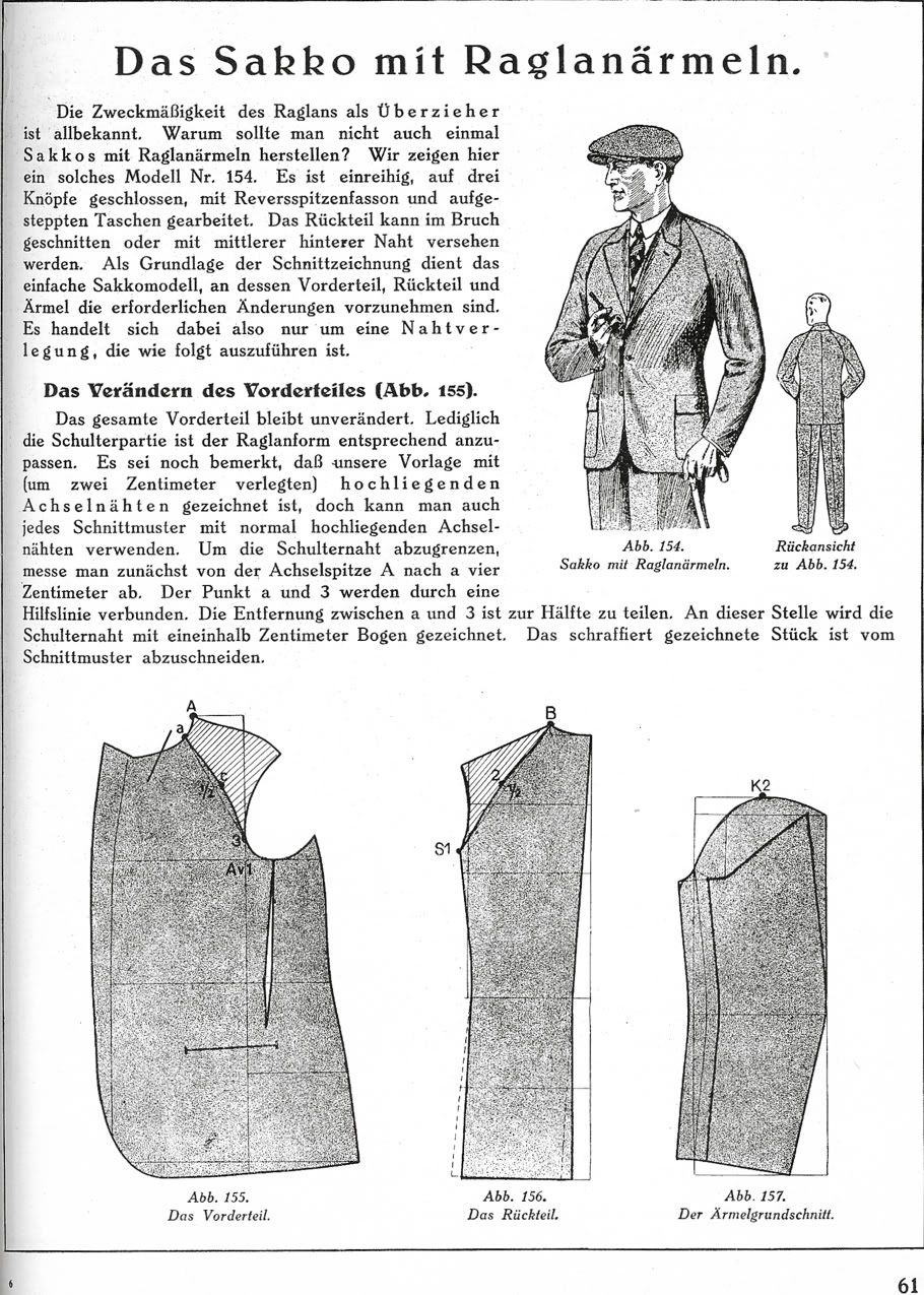 A Raglan Sleeved Jacket - The Coatmaker\'s Forum - The Cutter and ...