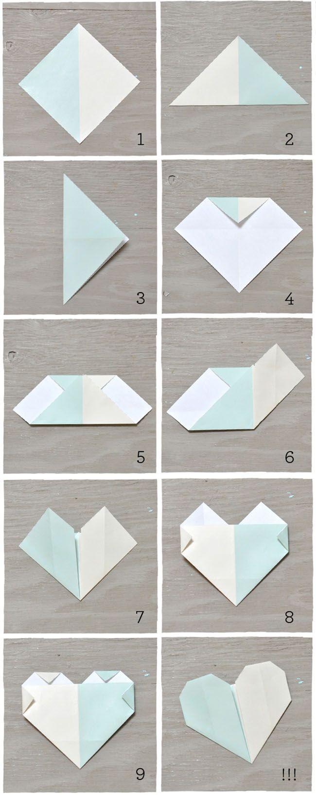 diy origami heart escort cards origami hearts diy