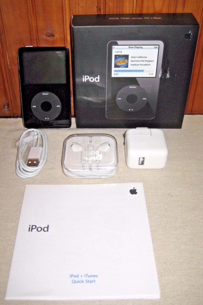 Ipod Classic Video 5th 5 5 Gen Blk 30gb With Original Box Earbuds Charger Bundle Ipod Classic Ipod Classic Video