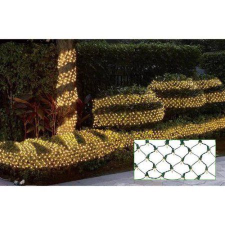 Holiday Time Ribbon Style Net Christmas Lights Clear, 150 Count ...