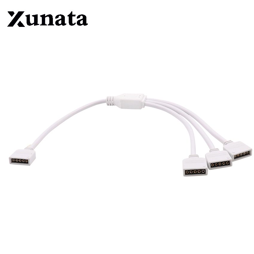5 Pin Rgbw Connector 1 In 2 3 4 Splitter Female Extension Wire Cable 1pc For Rgb Led Strip Good Quality Rgb Led Led Strip Ceiling Lights