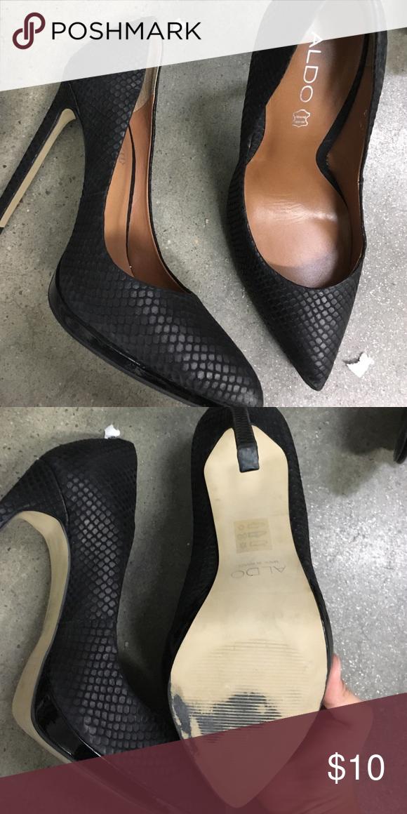 7259eb5e9fb3 Black Herls Gently worn Aldo Shoes Heels
