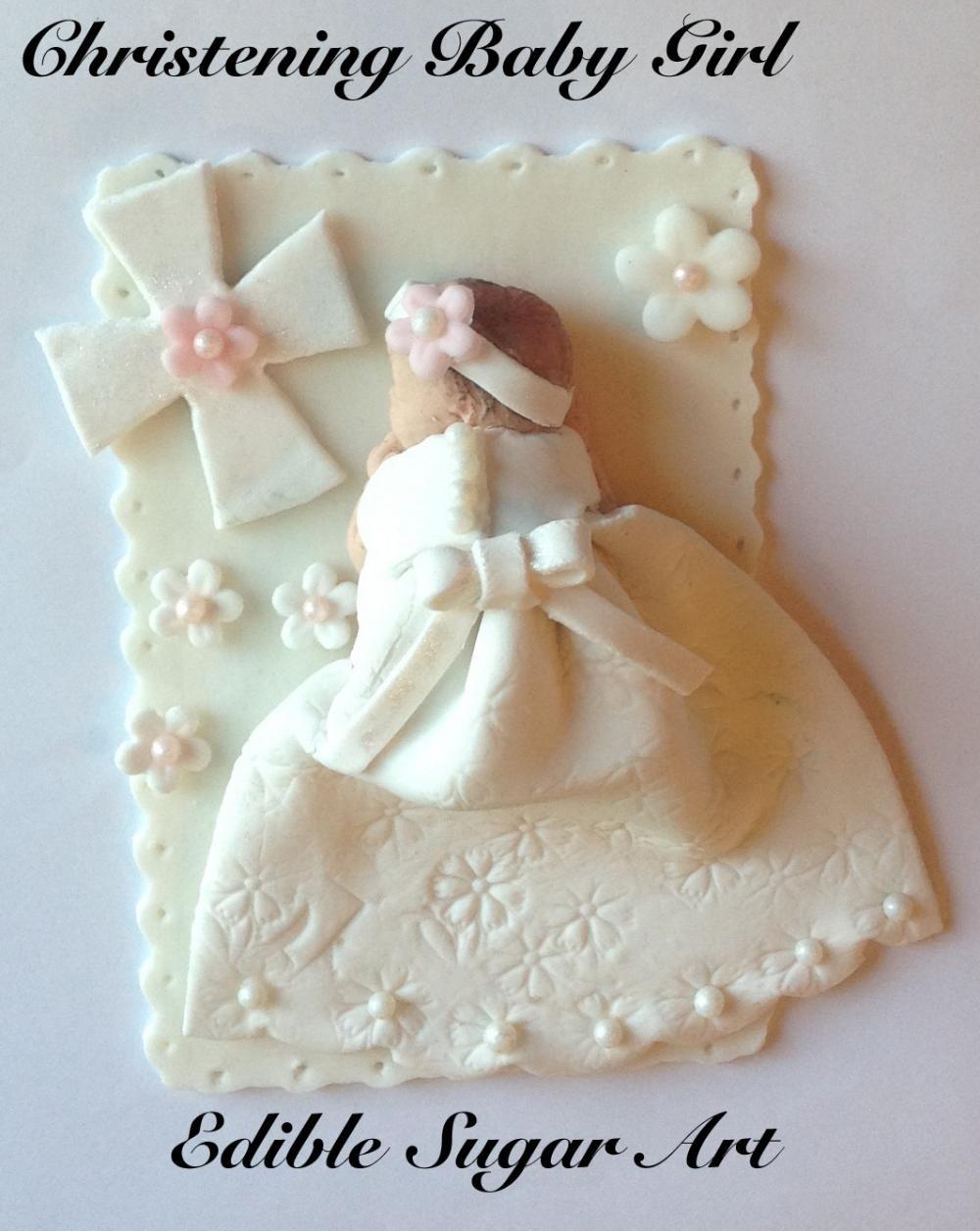 Christening Cake Topper   KAGE FIGURER - GUMPASTA/FONDANT   Kage, Fondant og Bruges