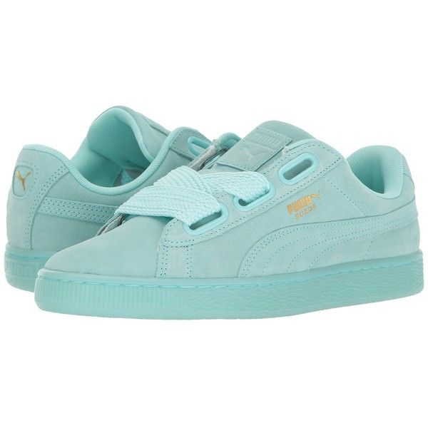 9b95207c89 PUMA Suede Heart Reset (Aruba Blue/Aruba Blue) Women's Shoes ($80 ...