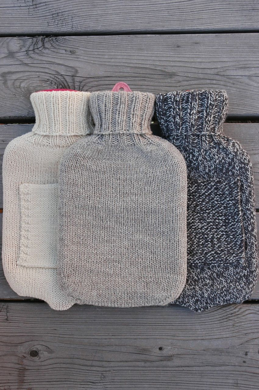 Simple Hot Water Bottle Cover pattern by Elly Fales ...