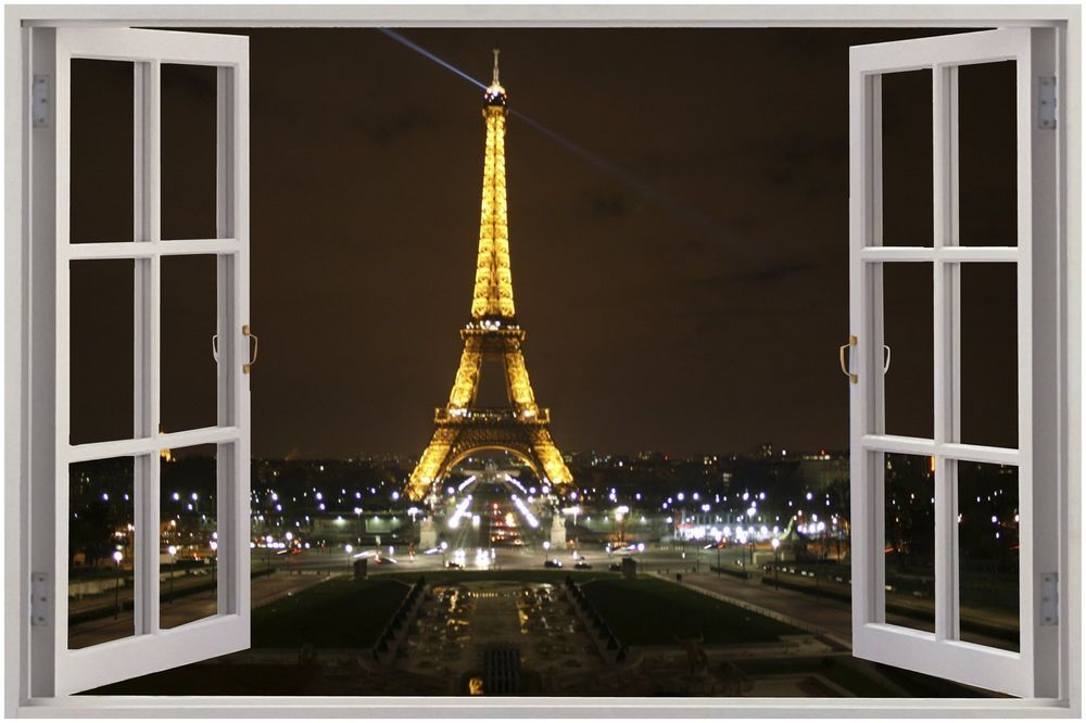 Paris Wall Mural Eiffel Tower palestencom