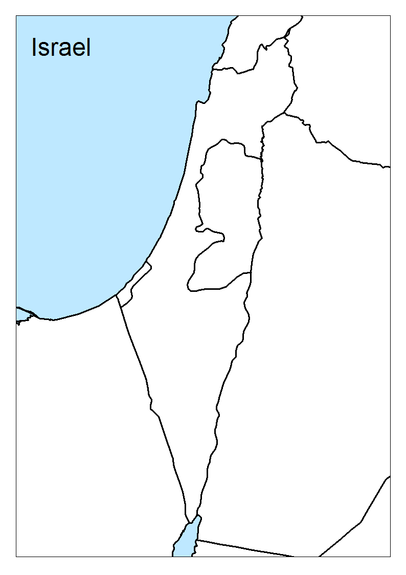 israel-blank | Geography lessons, Israel, Geography