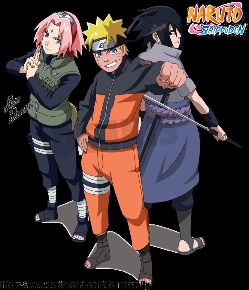 Naruto Shippuden Team 7 Reunited By Dennisstelly