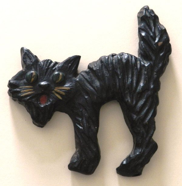 black cat halloween decoration - Black Cat Halloween Decorations