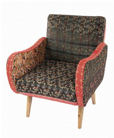 Love this Red & Gray Kantha Lounge Armchair on #zulily! # ...