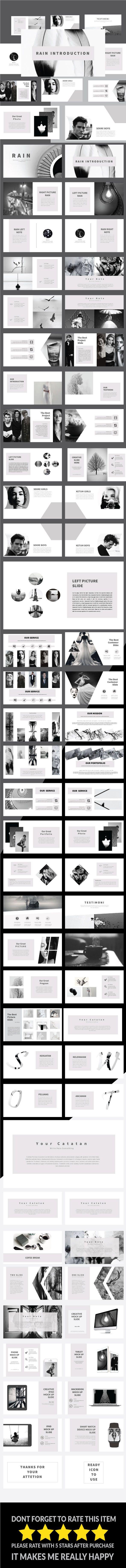 Rain - Multipurpose PowerPoint Template | Kreativ, Präsentation ...