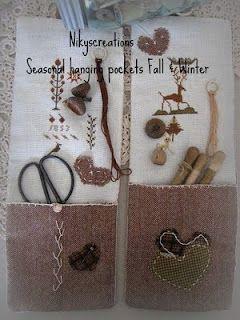 Seasonal hanging pocket