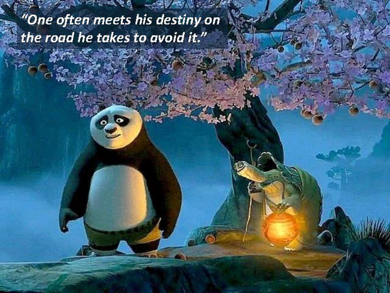This Is Such An Amazing Movie 12 Lessons Of Kung Fu Panda Words