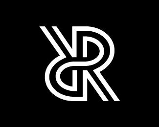 Double Letter R Monogram Logo Monogram Logo Typography Text Logo Design Monogram Logo Letters