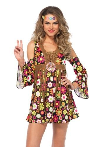 This Womenu0027s Starflower Hippie Costume features a sexy vintage-looking style that will invite a night of fun and freedom.  sc 1 st  Pinterest & This Womenu0027s Starflower Hippie Costume features a sexy vintage ...