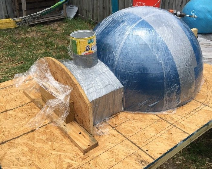 Wood Fired Pizza Oven Made With An Exercise Ball Outdoor