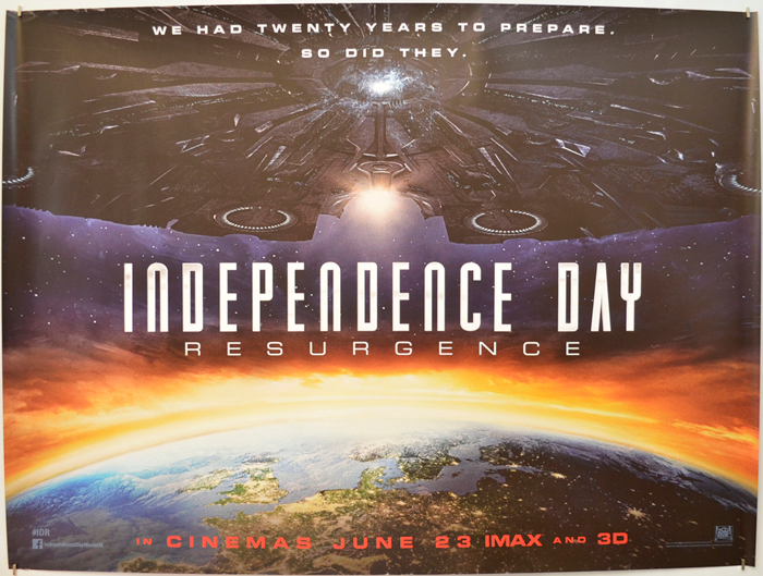 Independence Day Resurgence Eiffel Tower Movie Posters
