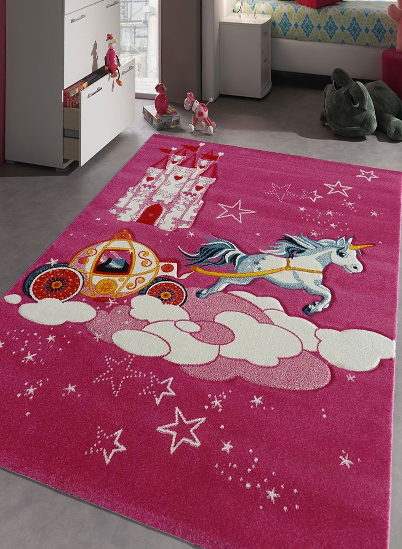 Teppich In Pink Fur Das Kinderzimmer Einhorn Rug Art In