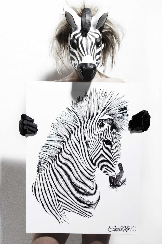 Canvas Zebra Art   Zeichnen und Bilder