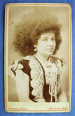 CDV Photo Portrait of Circus CIRCASSIAN Beauty by Charles Eisenmann New York NY | eBay