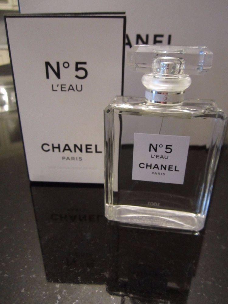 Chanel N5 Leau Eau De Toilette 34oz 100ml Womens Perfume Spray