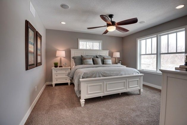 Red brown white bedroom layout | Interior Design Ideas.