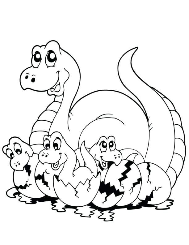 Free Printable Dinosaur Coloring Pages B Fun 8 Sheets Baby To Cure 6 Colouring Templates