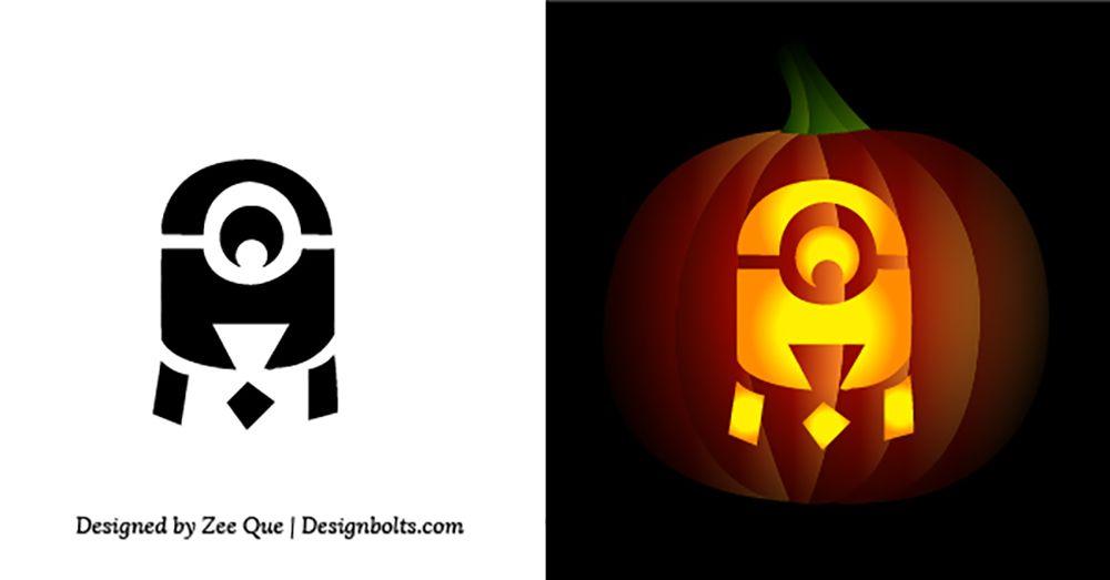 cute minion pumpkin carving stencil for children halloween 2015 rh pinterest es
