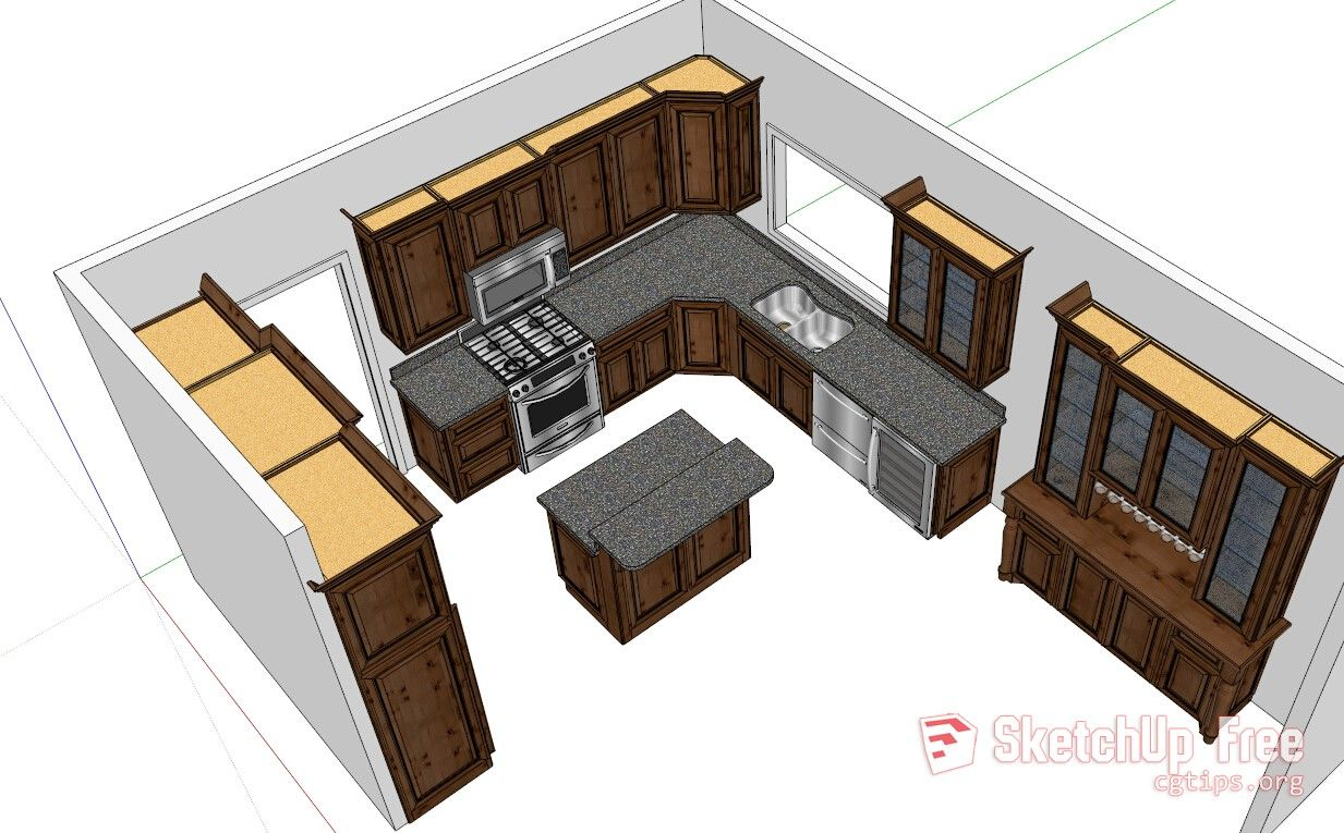 1405 Kitchen Sketchup Model Free Download Sketchup Model Free