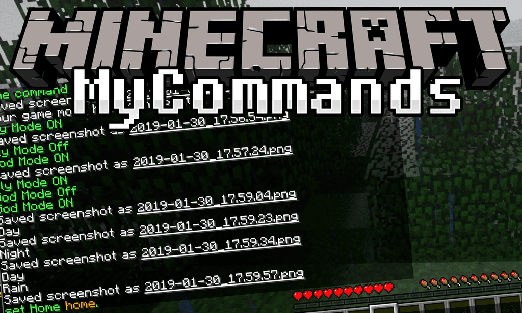 Mycommands Mod 1 14 4 1 12 2 Adds Many Helpful Server Commands To The Game Use The Tab Key While Typing A Comm Minecraft Commands Minecraft Minecraft Forge