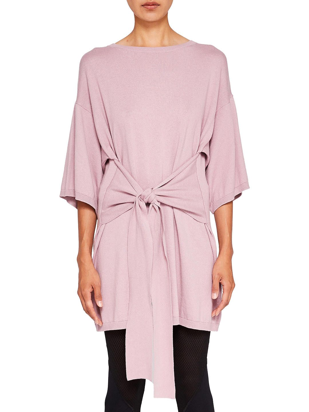 f2c6fd557a59 BuyTed Baker Ted Says Relax Olympy Tie Front Knitted Tunic Dress, Pink, S  Online at johnlewis.com
