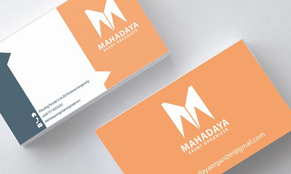 mahadaya event organizer name card on Behance Cartões - name card