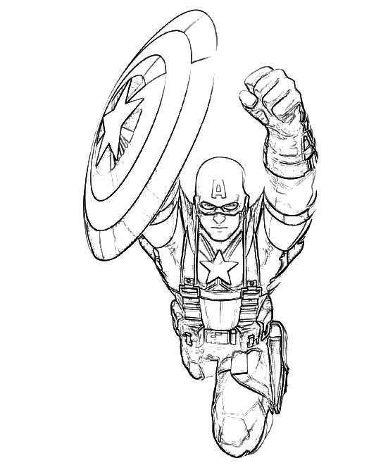 237 coloriage Captain America