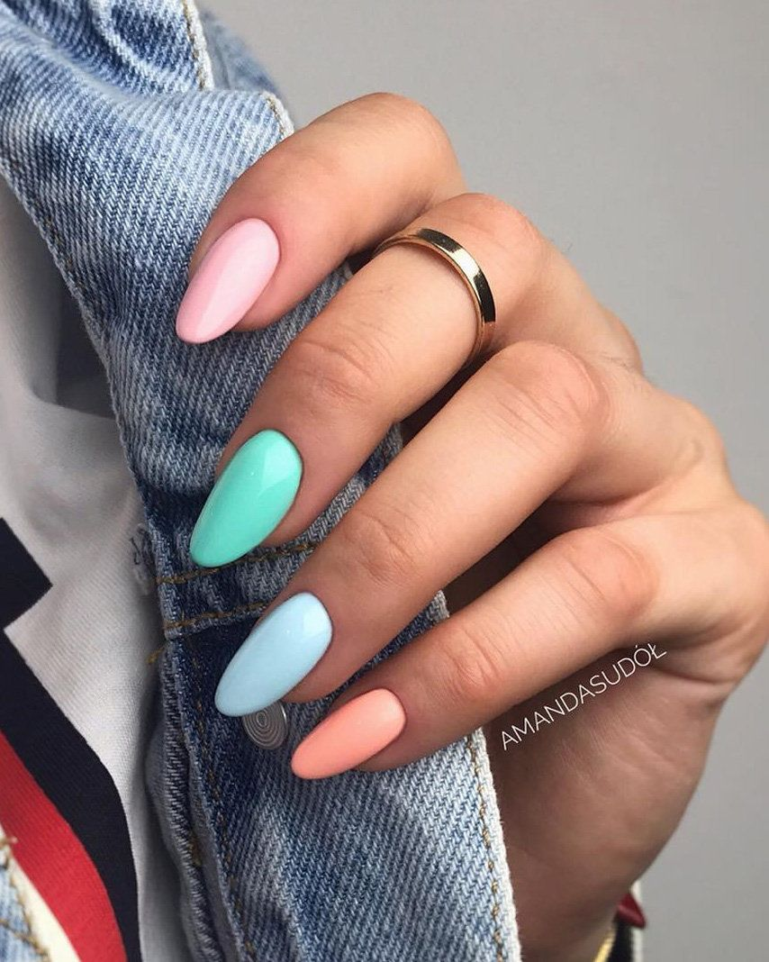 Long Acrylic Nail Art Designs For Summer 2019 Nails Designs