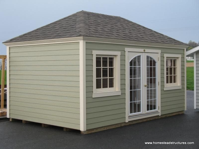 10 X 16 Laurel Hip Shed W Crown Molding Facia Hardie Plank Siding Hip Roof Shed Hardy Plank Siding