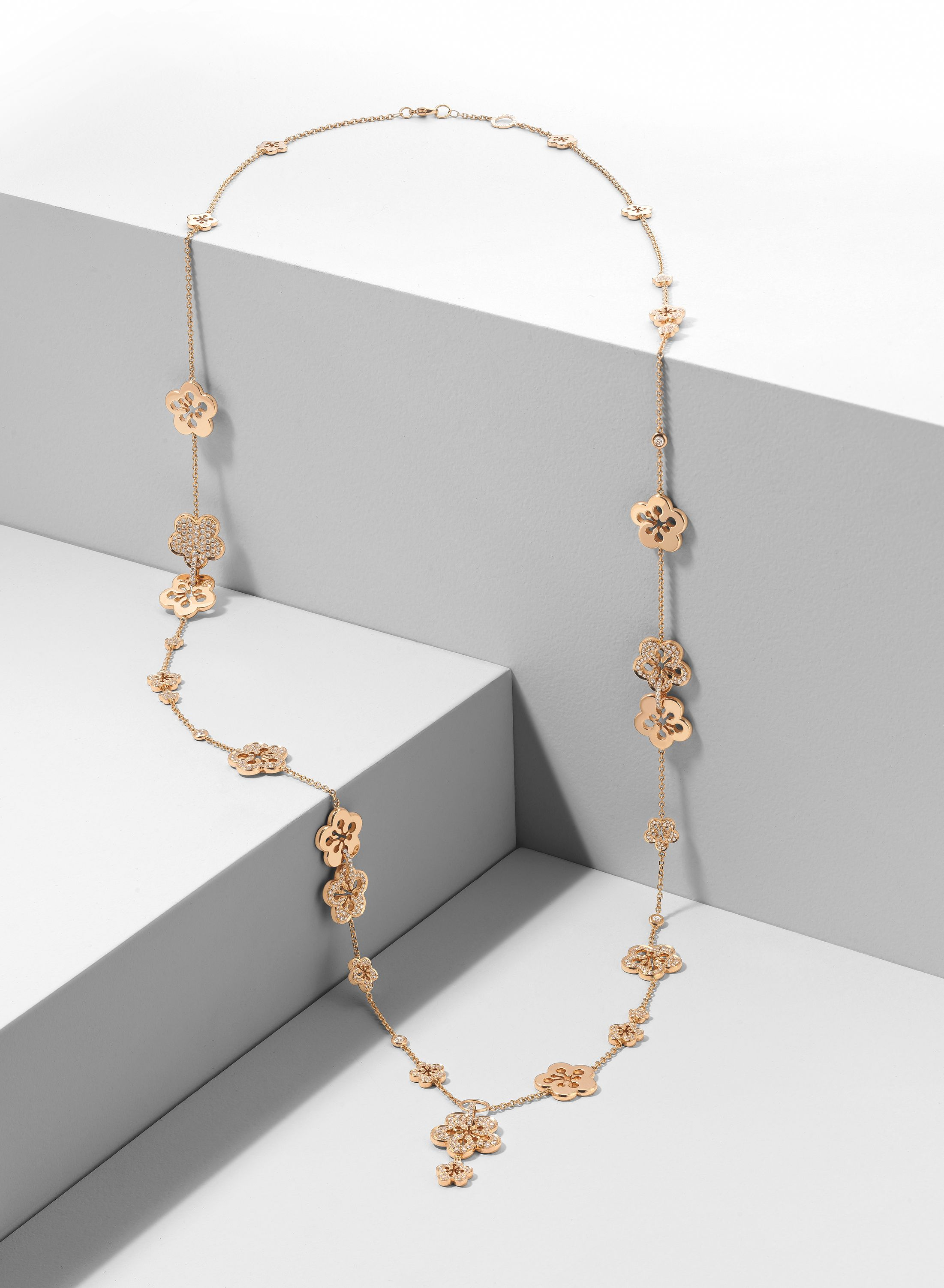 Boodles iconic blossom collection white or rose gold
