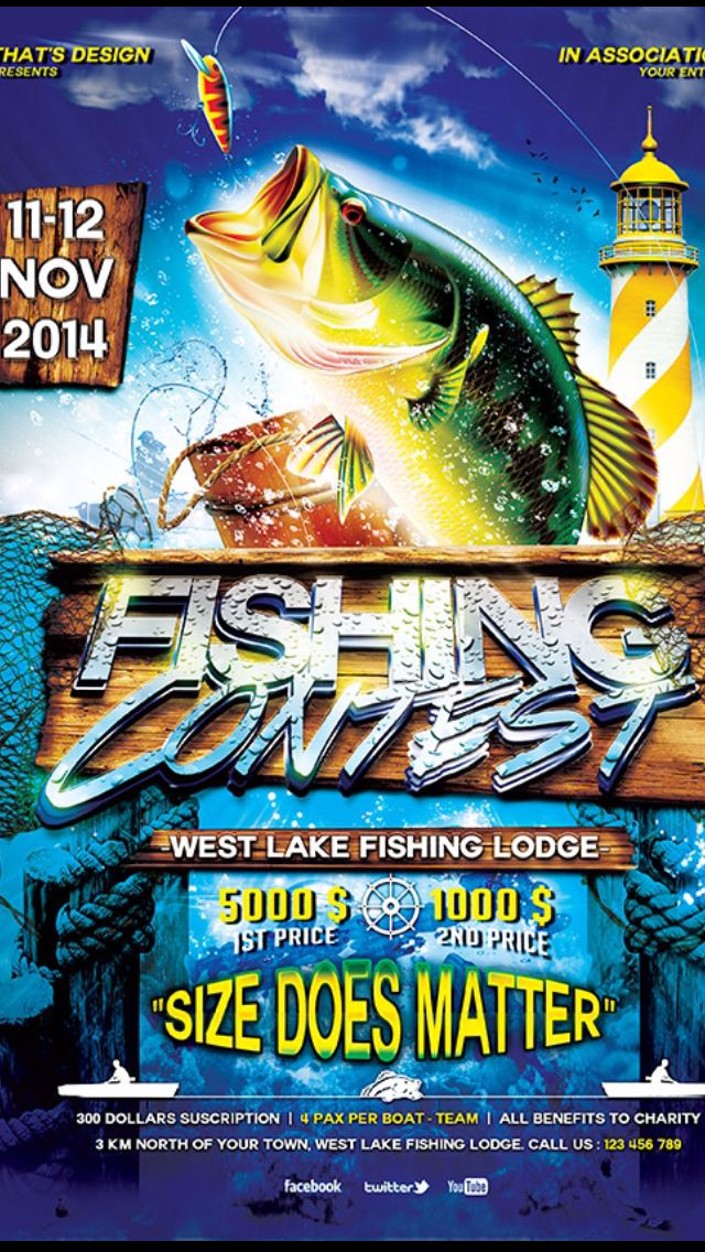 Fishing Tournament Poster Hjkhjk Pinterest
