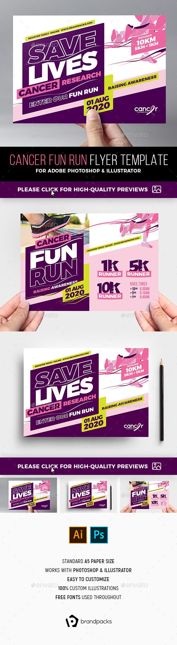cancer benefit flyer template sports events event flyer