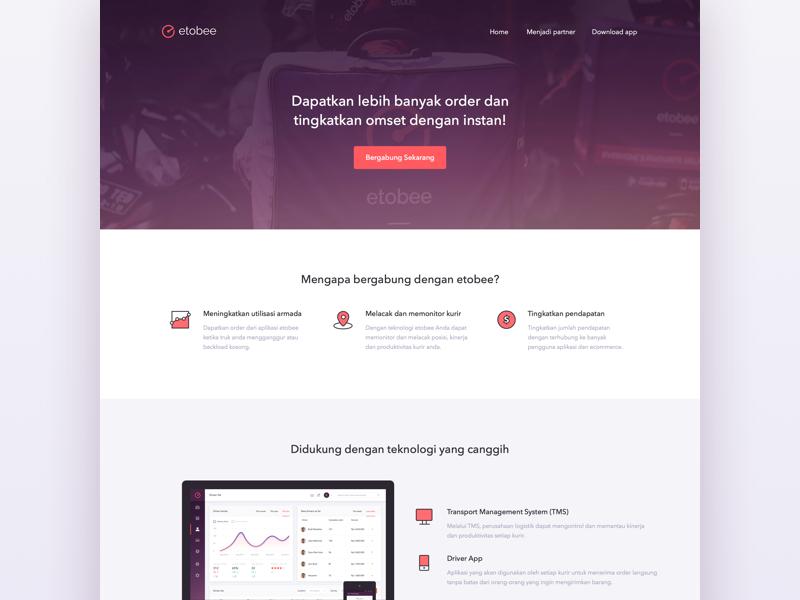 Landingpage for Partners