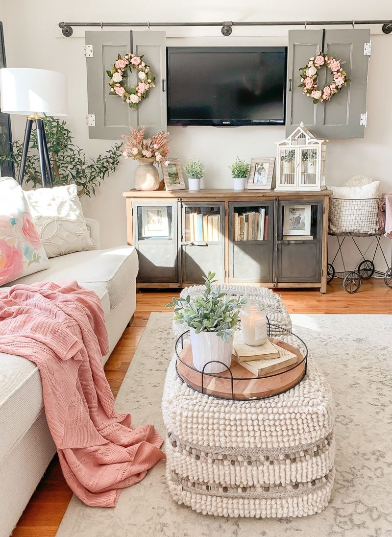 Fabulous And Fresh Farmhouse Diys And Ideas The Cottage Market Spring Living Room Spring Living Room Decor Farm House Living Room Living room decor ideas