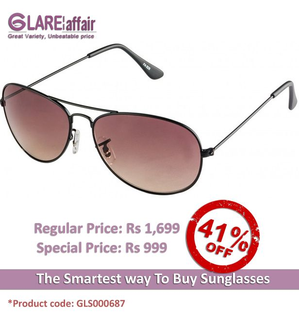 Farenheit Superb FA928 Black Brown Gradient Aviator Sunglasses http://www.glareaffair.com/sunglasses/farenheit-superb-fa928-black-brown-gradient-aviator-sunglasses.html Brand : Farenheit  Regular Price: Rs1,699 Special Price: Rs999  Discount : Rs700 (41%)