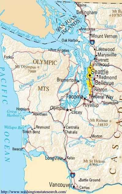 WASHINGTON COAST | Washington Coast Map | Washington beaches ...