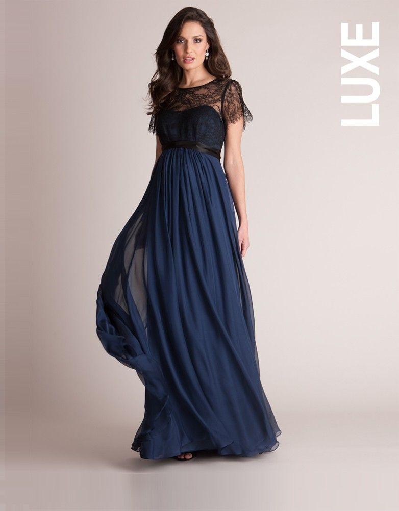 b460105d1226c <ul> <li>Made in luxurious pure silk & fully lined </li> <li>Bodice  overlaid in beautiful black lace </li> <li>Pure silk sash ties at the  empire line</li> ...