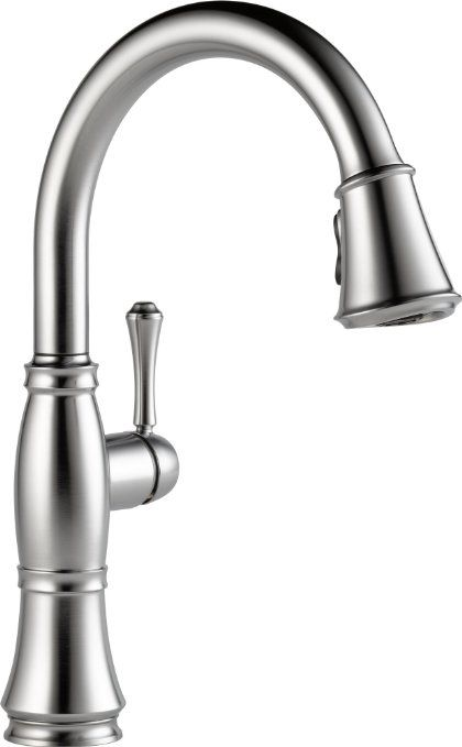 Delta Faucet 9197 AR DST Cassidy, Single Handle Pull Down Kitchen Faucet,