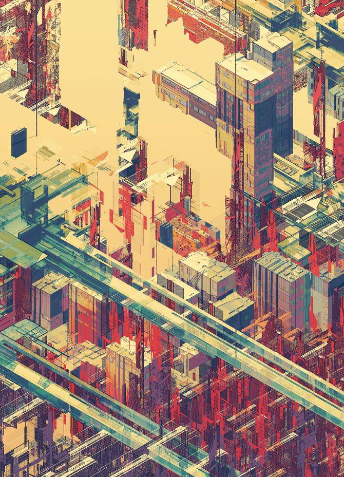 urbanlabglobalcities:    Illustrations by Atelier Olschinsky || MASContext    Color Illustrations | atelier olschinsky | 150