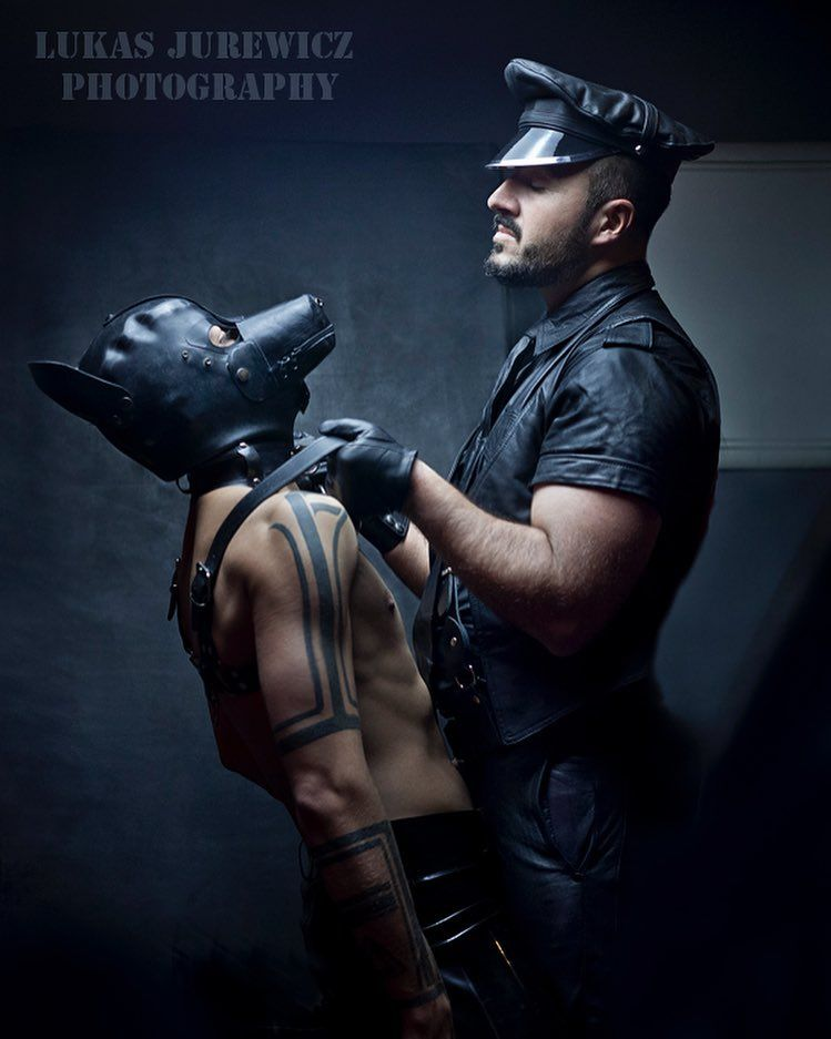 Great looking gay boy in leather sex
