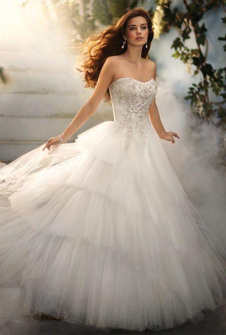 Genial DISNEY FAIRY TALE WEDDINGS BY ALFRED ANGELO Style No: 209 CINDERELLA Net  Over Satin Dress